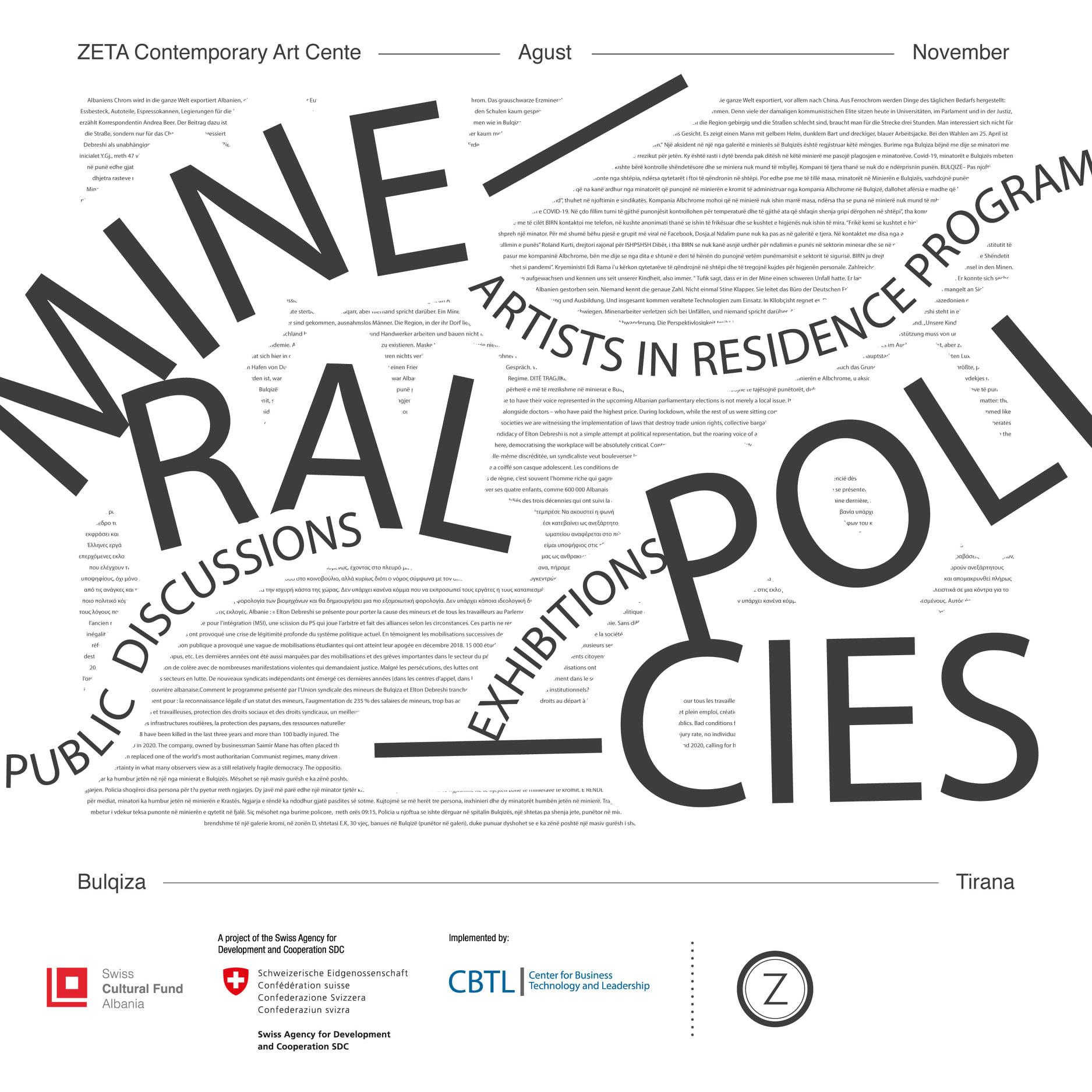 MINERAL POLICIES | Residency Program in Bulqiza — Tirana